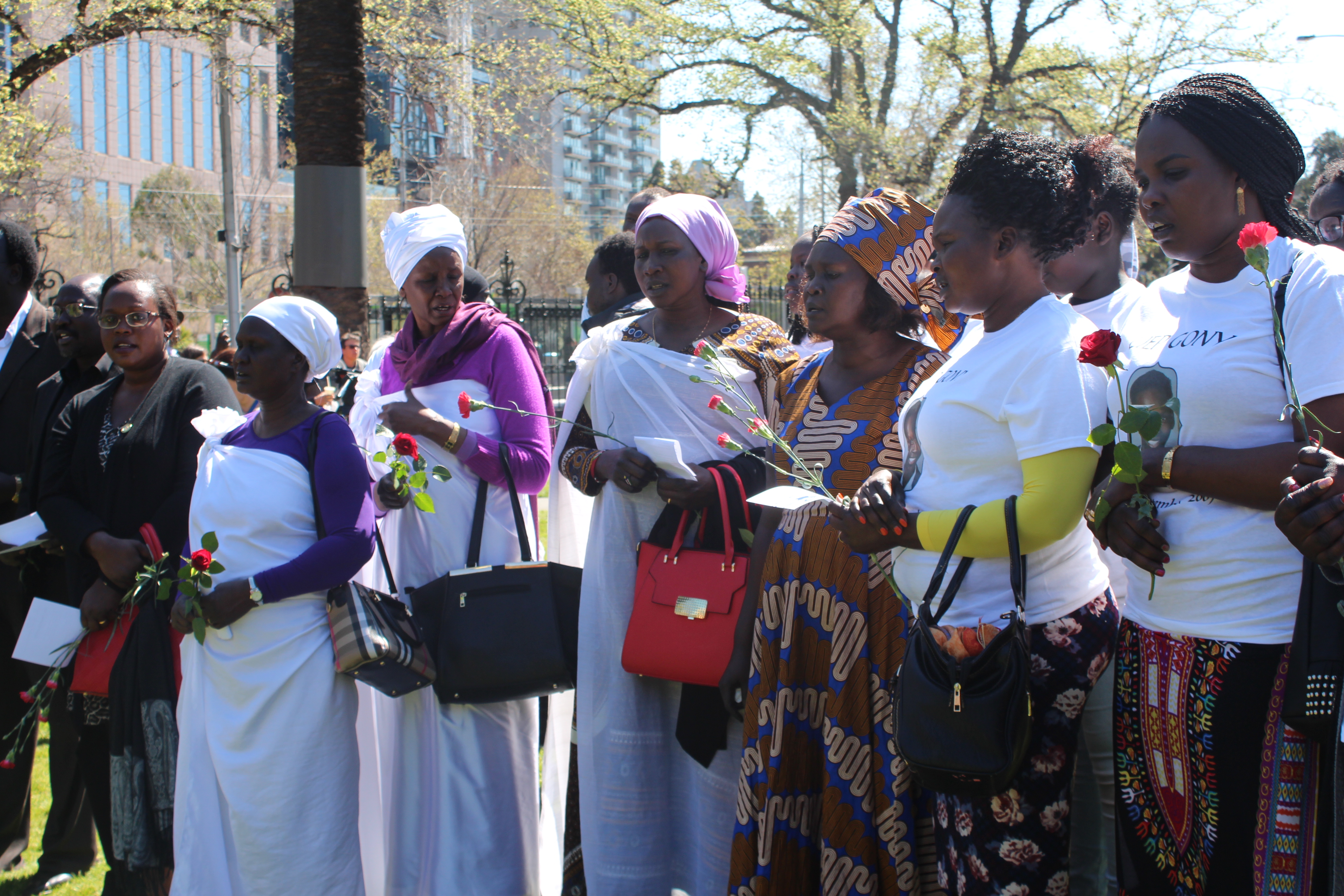 """An African-Australian choir which sang the hymn """"In The Sweet By and By""""."""