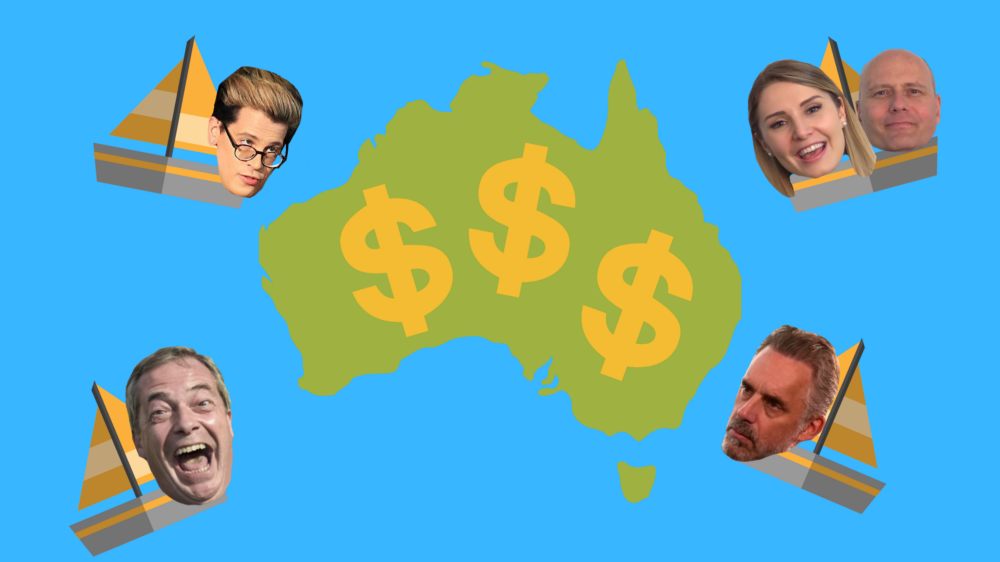 Politics, protests and profit – next stop Australia for the far-right