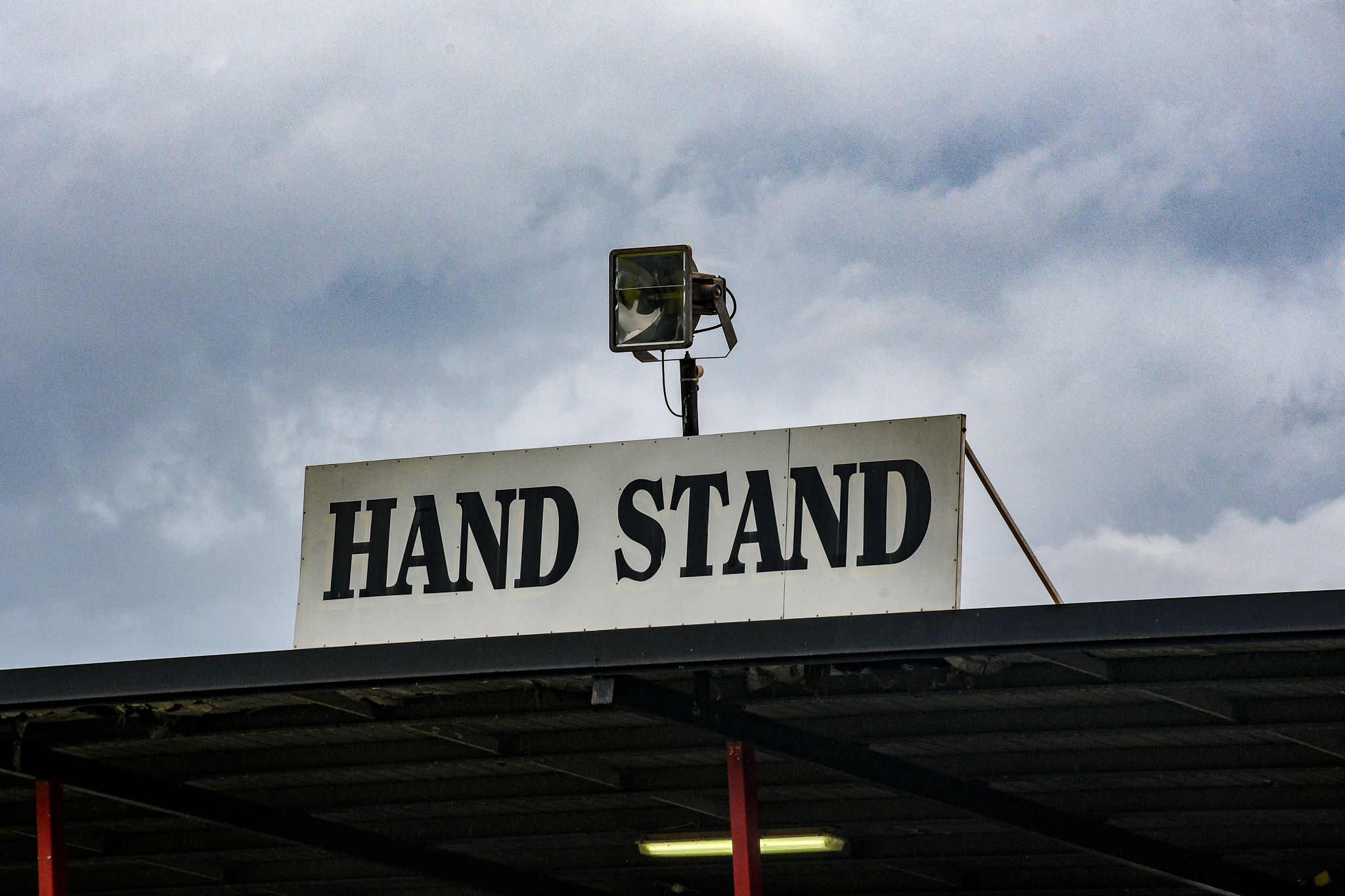 The Hand Stand at Norbuilt Oval, the home of the Southern Crocs. The Crocs were current Collingwood coach Nathan Buckley's first senior club.Tiwi Bombers v Southern Crocs, NTFL round 14, January 19, 2019.