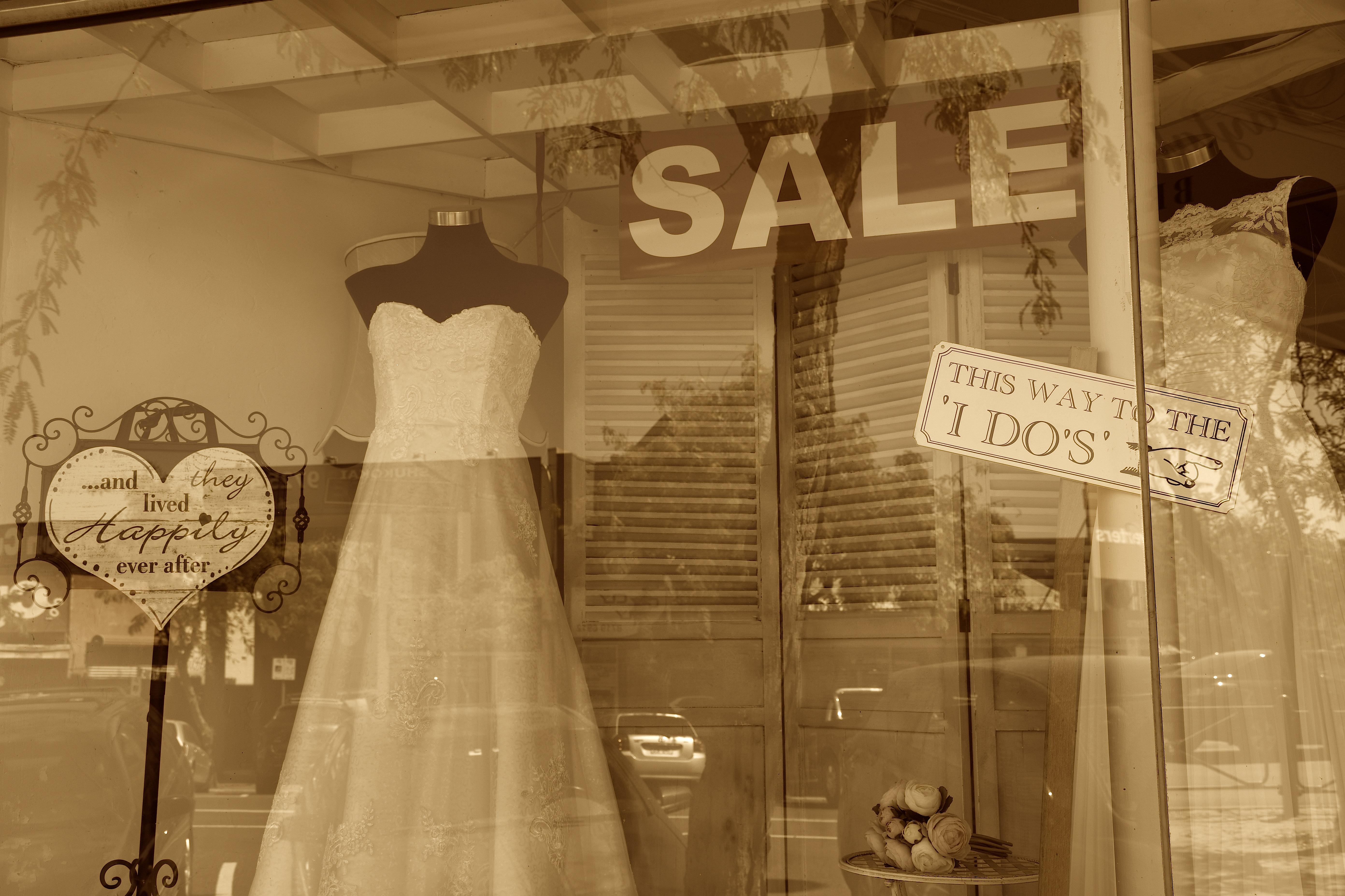 A shop window in Main Street, Croydon, in the Deakin electorate.