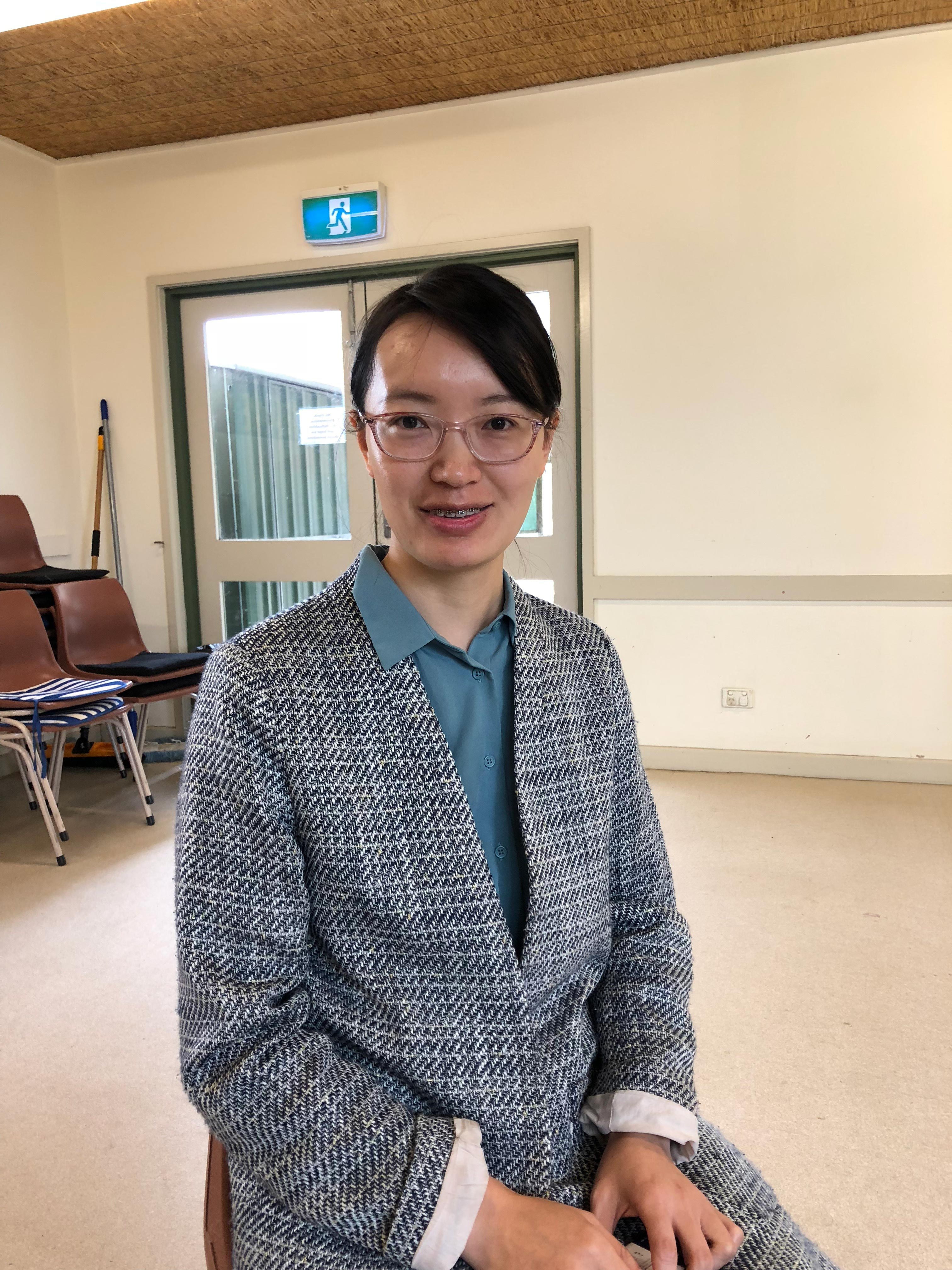 """Alice Zheng, at her English class at Mitcham Community Centre. """"""""want to be part of the society … we want to have more opportunity to communicate with others."""""""
