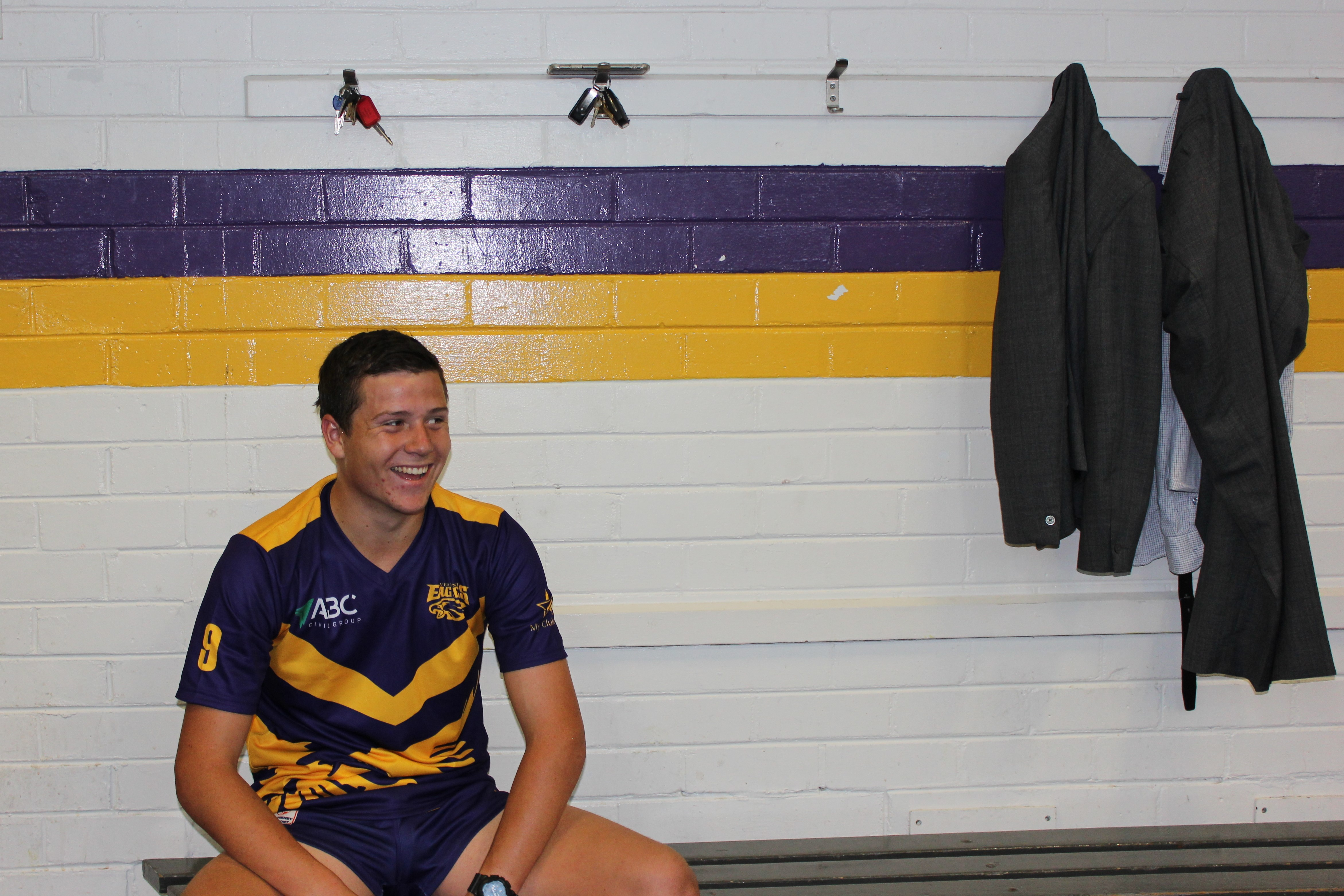 """Newly elected Vermont Under 19s captain, Damien Furey.""""You can just tell, some kids are just natural leaders,"""" says coach Jack Best. """"They get around the boys and bring everyone up."""""""
