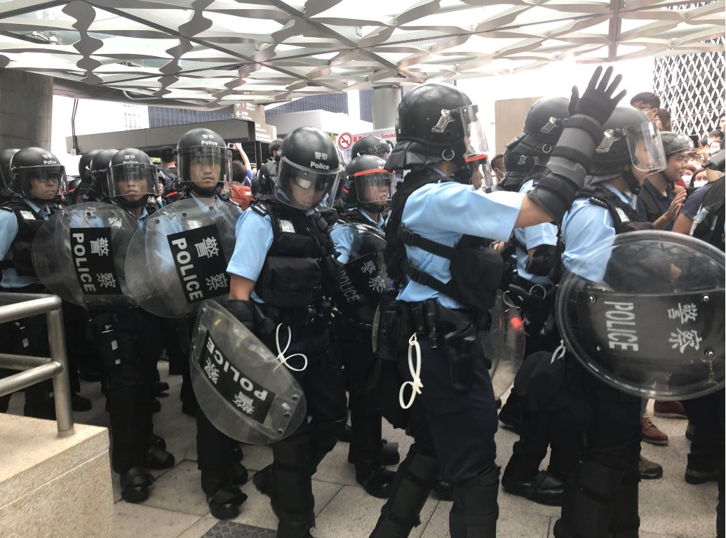 The Hong Kong Police Force has been criticised by pro-democracy and human rights groups over the past year for alleged use of excessive force in confrontations with protestors.