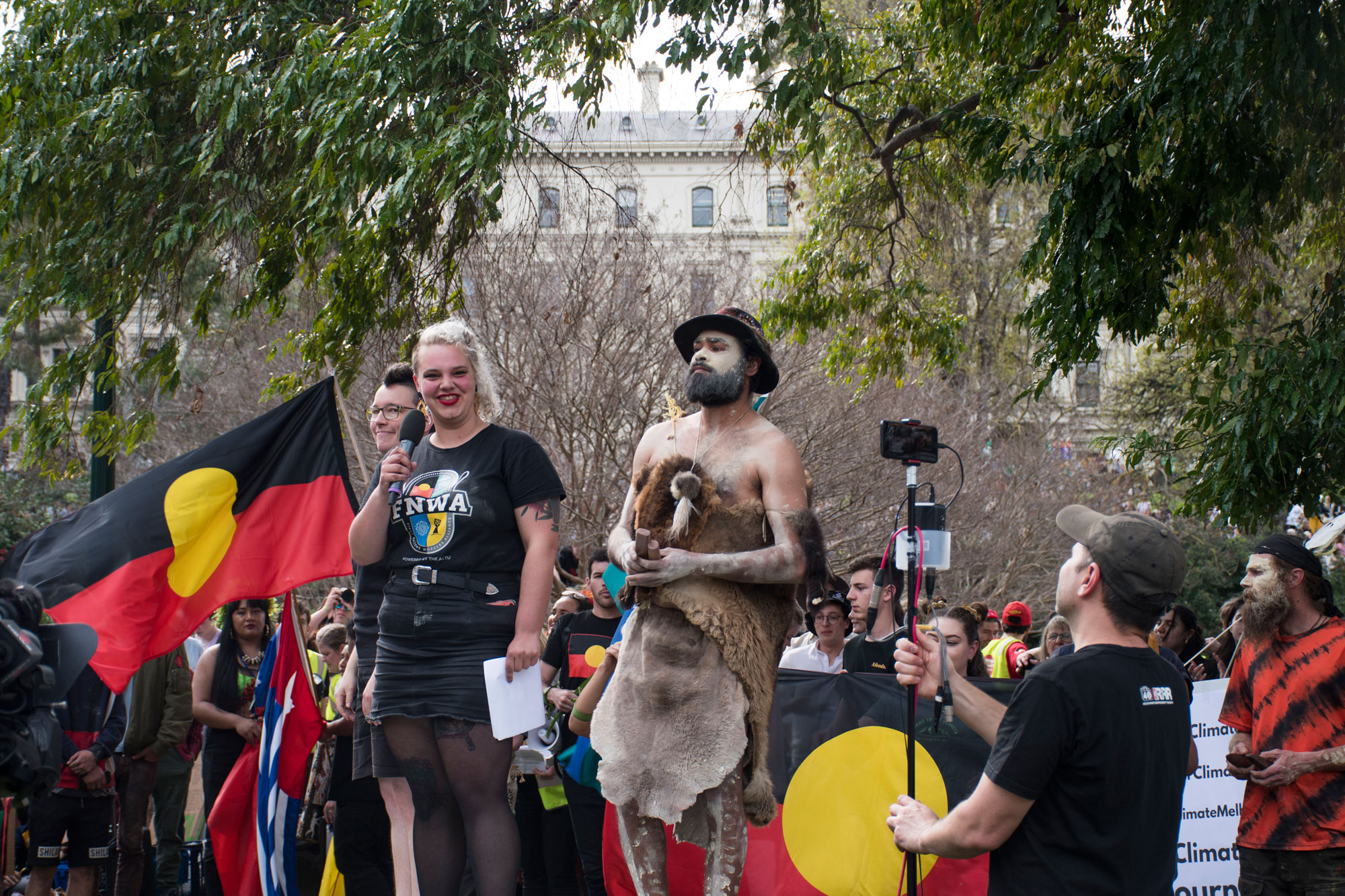 Some of the speeches in Treasury Gardens, massive crowds were inspired, listening intently and cheering. Photo: Fia Walsh