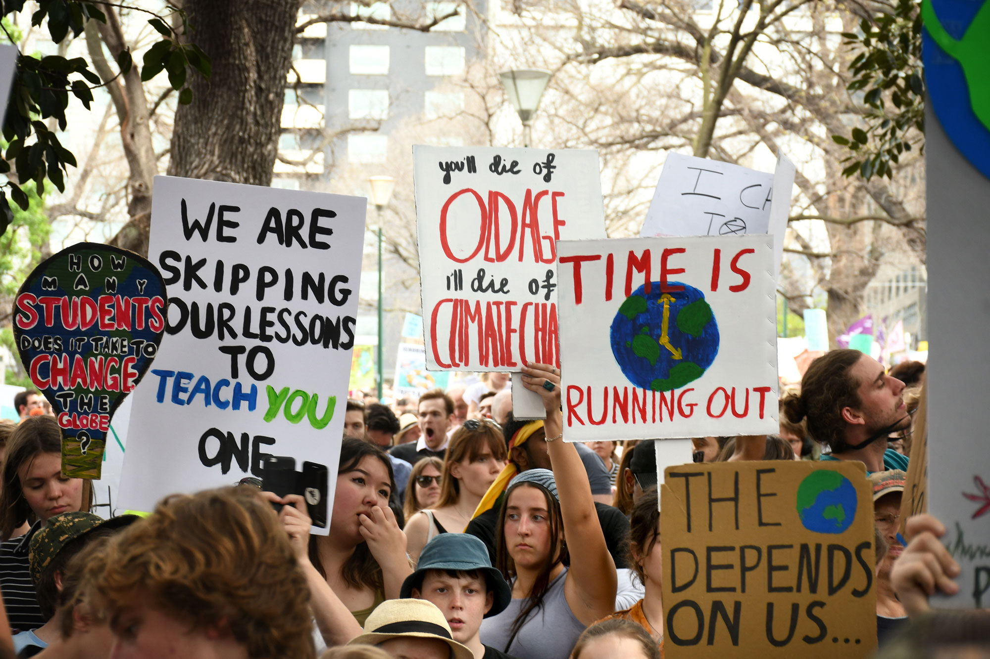 'The Earth depends on us': Climate activists taking it to the streets