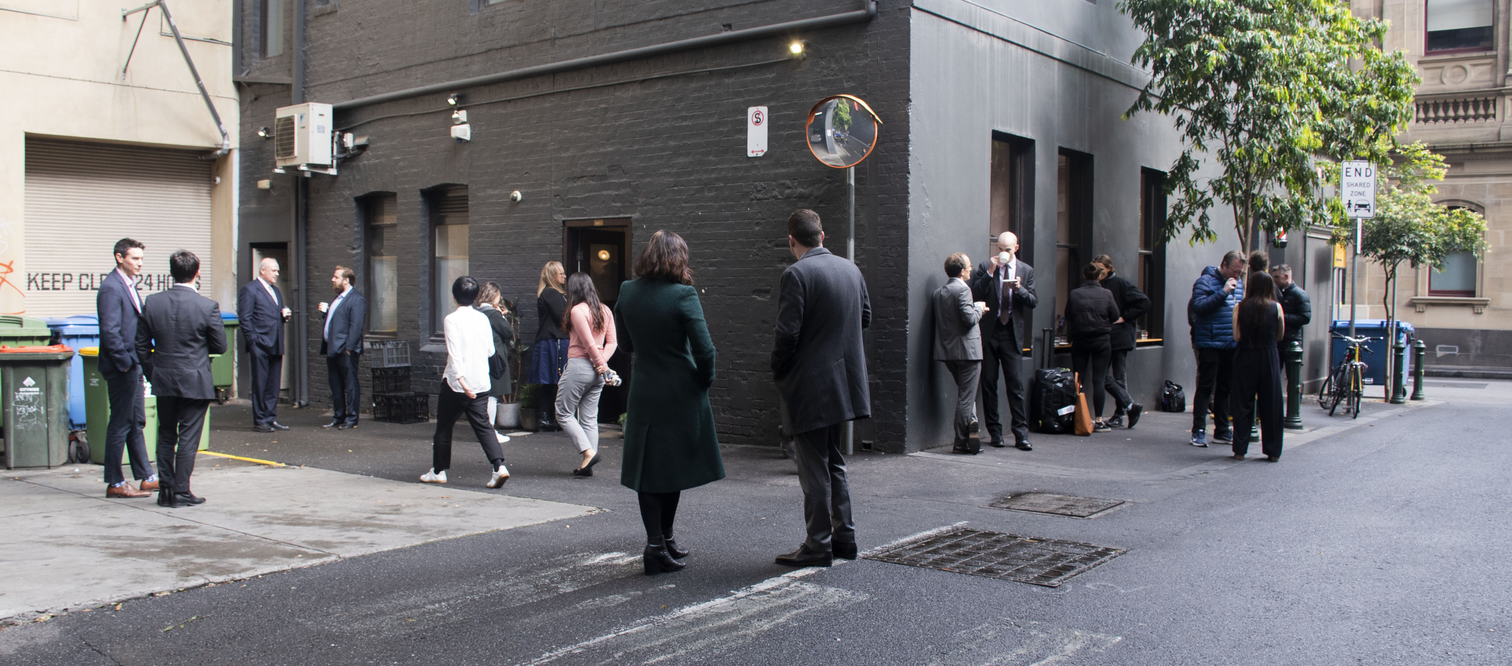 Coffee in Melbourne isn't just a drink. It's a lifestyle. People gather at Patricia Coffee Brewers on Little Bourke Street to drink coffee every workday morning. There's never enough space to sit in the store, but Melburnians don't mind enjoying their coffee outside.