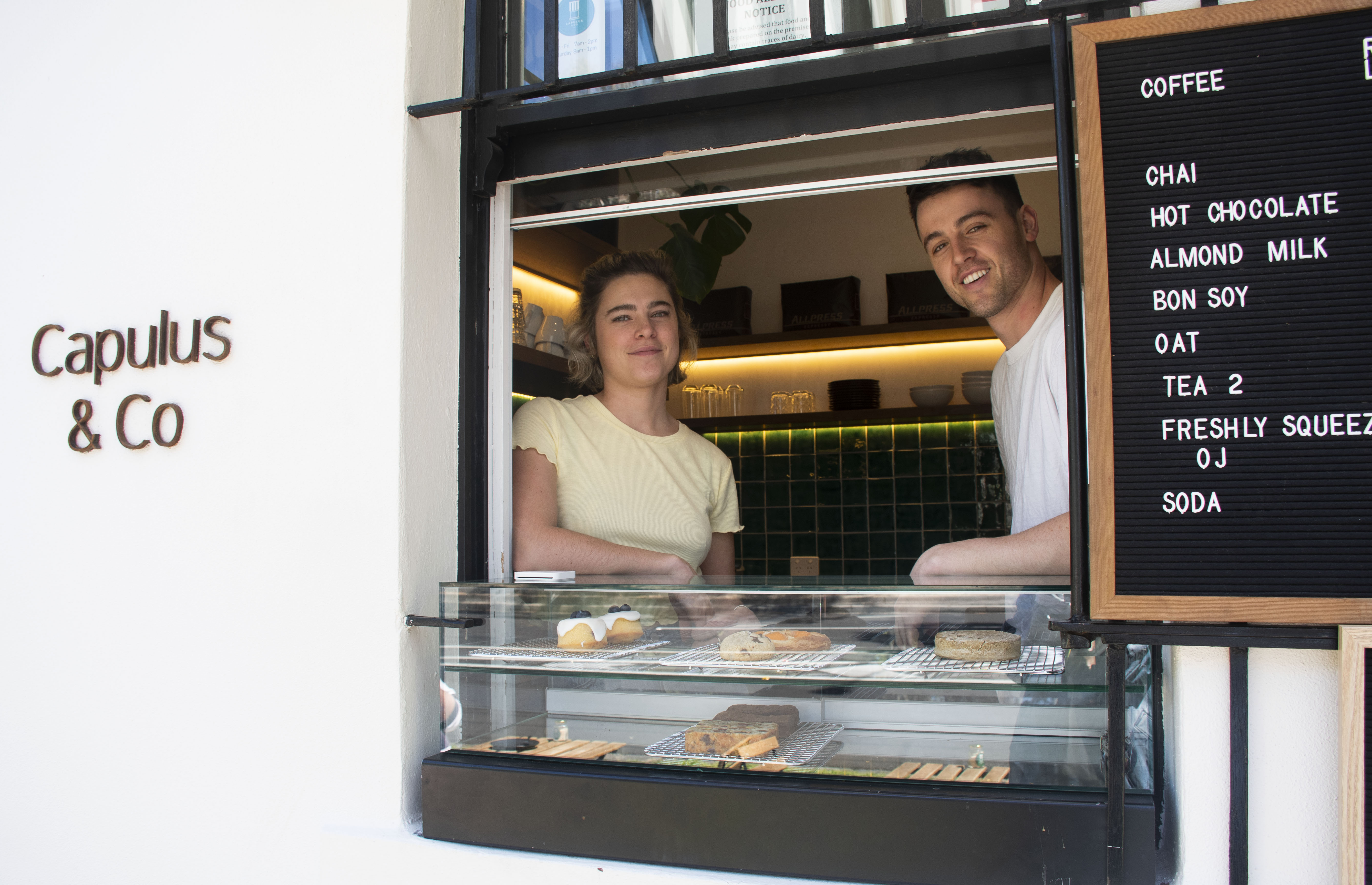 Depending on workdays or weekends, people will choose different ways to consume their coffee, from a sit down and savour experience to a takeaway option.   Francesca Sullivan-McNeill (left) and Christian Sullivan-McNeill (right) are co-owners of Capulus & Co Coffee on Sydney Road, in Brunswick. Christian says that most of their customers choose to take their coffee away on workdays.