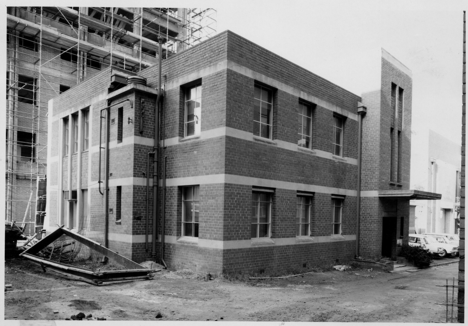 The former Commonwealth Radium Laboratory c. 1970. SOURCE: Supplied, Melbourne University archives