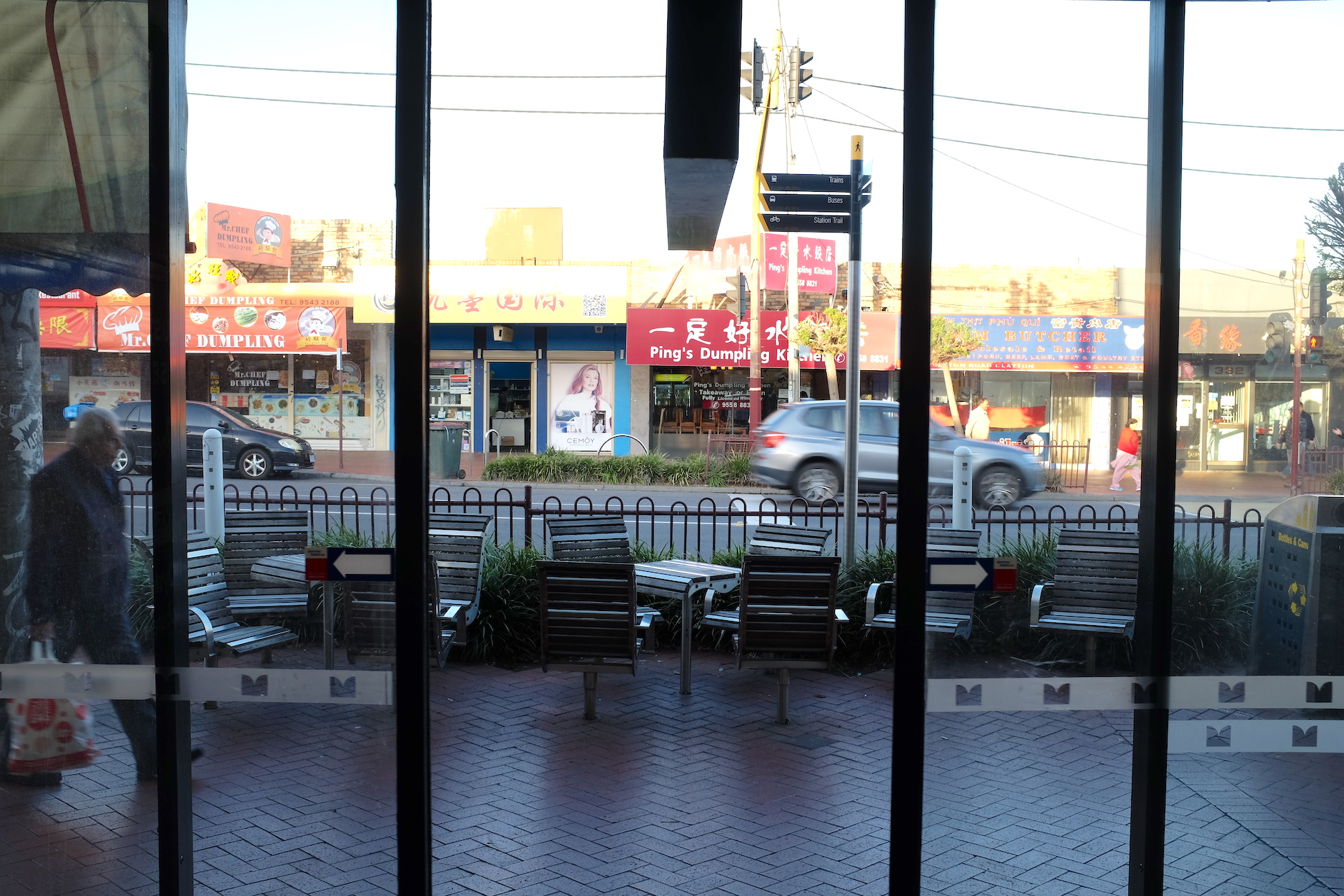 The usually bustling Clayton Road shopping strip is a ghost town these days. Photo: Benjamin Silvester