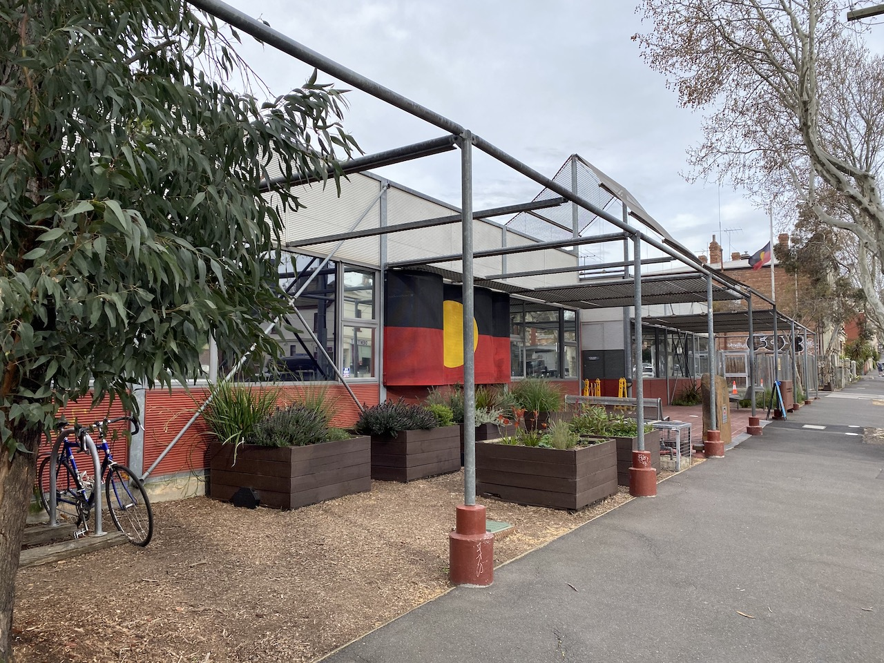 The Victorian Aboriginal Health Service in Fitzroy. The Indigenous-led response to the pandemic was not just about roping off remote communities, but rolling out programs in regional and urban areas, where ABS statistics show the vast majority (80%) of Australia's Indigenous population lives. Picture: Amalyah Hart