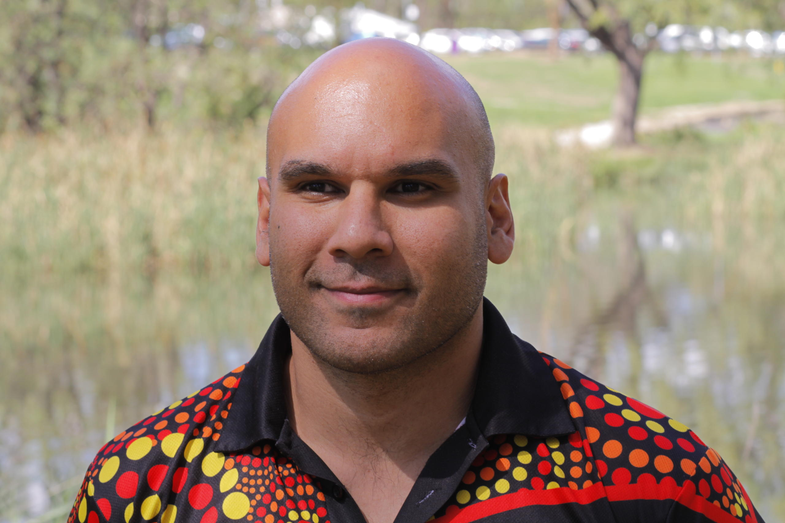 Euahlayi man Bhiamie Williamson says climate justice for First Nations people means sincere regard and resourcing for Indigenous cultural land management. Supplied: Bhiamie Williamson