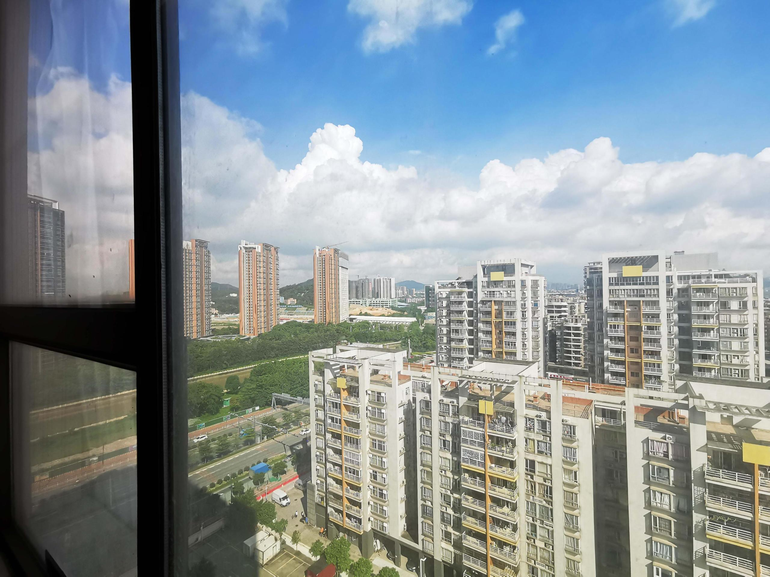 """After the flight landed in Guangzhou, Zifeng was sent to the Huangpu District for quarantine. """"Wei-ye-na hotel put me in a big room at the end of a corridor on the 14th floor, lucky for me my room had a sunny window,"""" she said. Image credit: Zifeng Zhang"""